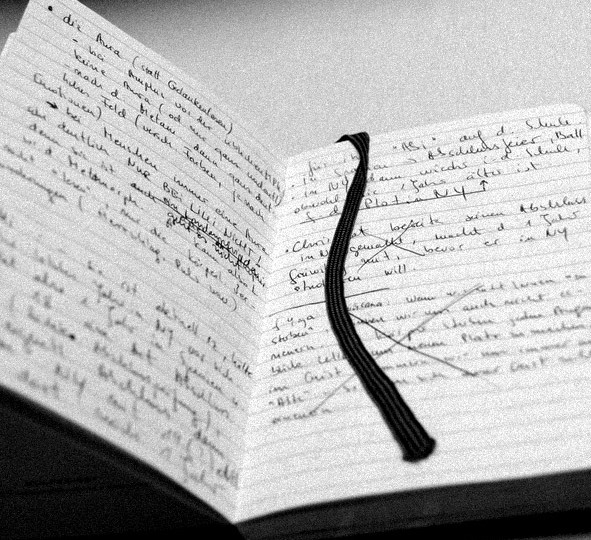 Notizbuch zu Schattenblau